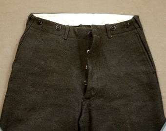 1930s Wool Ski Sports Pants Trousers