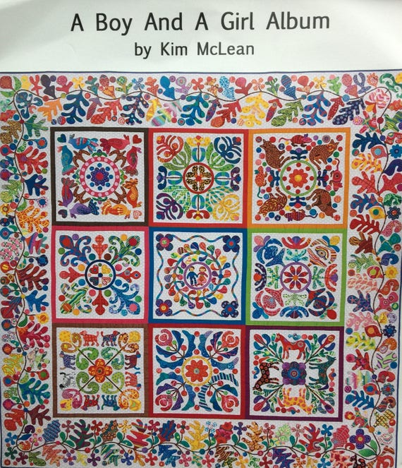 A BOY AND A GIRL Pattern by Kim McLean - Appliqué