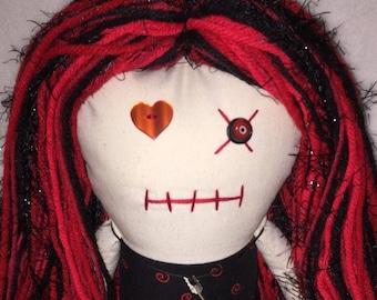 """Creepy n Cute Zombie Doll - """" Arrow n Red"""" Gal (D)."""