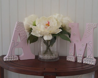 Rhinestone and Pearl letters