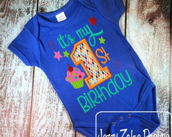 Its my 1st Birthday Appliqué embroidery design - 1st Birthday appliqué design - first birthday appliqué design - birthday appliqué design