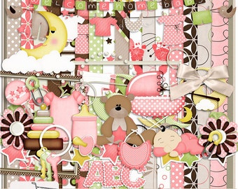 Baby Love Girl Digital Scrapbook Kit