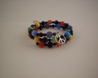 Peace Coil Bracelet