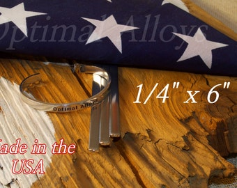 Stamping Blanks/ Aluminum 12 guage/ cuffs/10 Polished 1/4 x 6 Aluminum Cuff Blanks - Flat