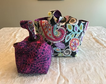 Large or Small Reversible Dumpling Bag