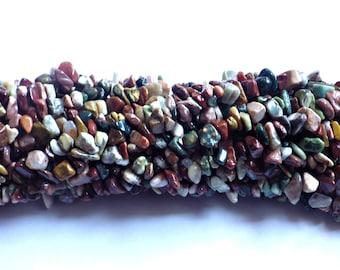Ocean Jasper Chip Beads 5x8mm on String