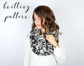 PATTERN // The Niota Cowl // Chunky Knit Cowl Scarf