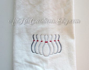 Bowling Towel, Embroidered Bowlers Towels, Custom Towels, Custom Team Towels, Towels For Bowlers