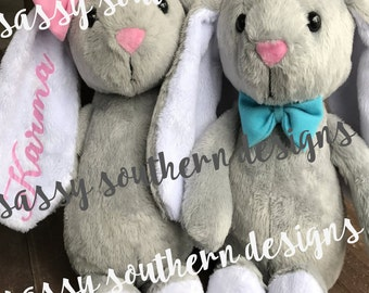 Flower Girl Gift, Wedding, Plush Bunny, Bunny Rabbit, Stuffed Animal, Stuffed Rabbit, Personalized Easter Bunny, Stuffed Easter Bunny