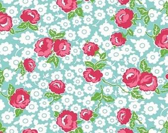 Dainty Darling - Dainty Main(Aqua) - Lindsay Wilkes of The Cottage Mama - Riley Blake Designs