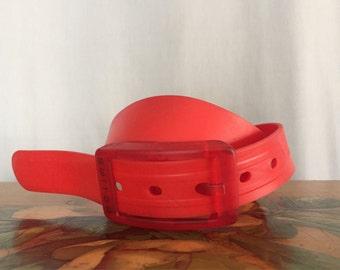 Red Belt Vintage Switched Adjustable
