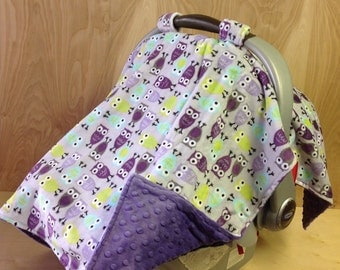 Canopy tent- purple owls/ purple