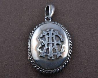 Silver Victorian Locket (928j8)