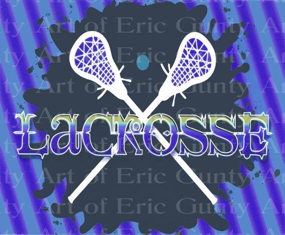 Lacrosse Birthday - Edible Cake and Cupcake Topper For Birthday's and Parties! - D22454