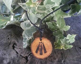 Apple Awen Pendant Necklace, Awen Pendant, Apple Pendant, Apple, Awen, Druid, Apple Necklace, Druid Jewelry, Talisman Necklace