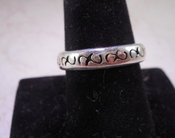 Sterling Silver Celtic Wedding Band Size 9.5
