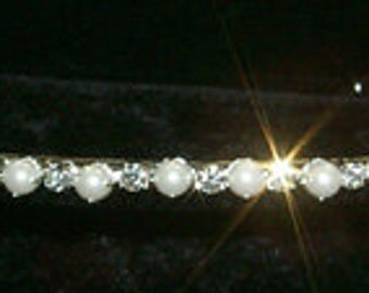 Alternating Pearl and Rhinestone Headband #11247