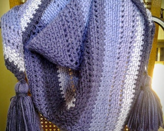 Cozy Striped Shawl in Bumbleberry