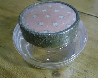 Vintage Glass Powder Pot