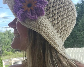 Sun hat, summer hat, brimmed hat, spring hat, crochet spring hat, crochet summer hat, beach hat, crochet beach hat, free domestic shipping
