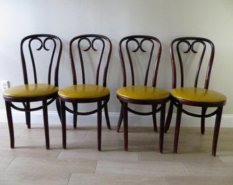 4 x colorful Thonet chairs custom order