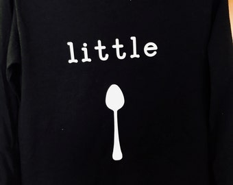 Big Spoon Little Spoon Black Long Sleeve Shirt Set