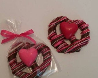 Chocolate Covered Pretzels With Heart