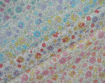 Bundle of 1/8 Yuwa Floral Lawn Fabric in 5 Colorways. Made in Japan.