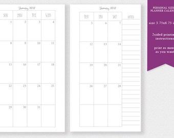 Planner calendar | Etsy