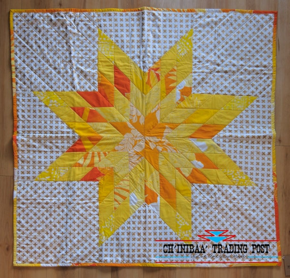 Gold & Yellow Native American Star Quilt by SommerNani