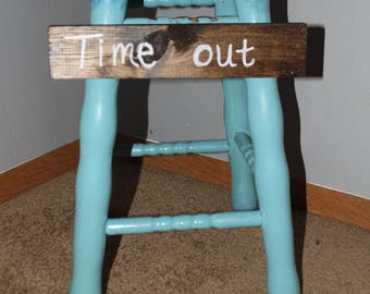 "Childs ""time out"" stool-shabby chic"