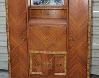 Art-Deco-Waterfall-wardrobe-chiffarobe-secretary-cedar
