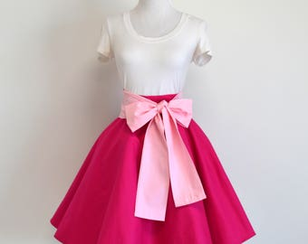 Princess Aurora / Disney's Sleeping Beauty Inspired Pink Circle Skirt and Sash