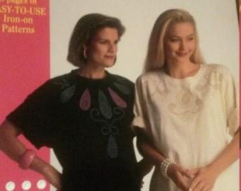 Liquid Beads Fashion Elegance Iron On Patterns Book Plaid #8785