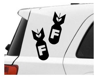 F Bomb Decal sticker AB25