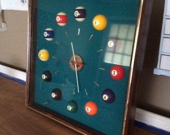 Vintage Pool Table Clock