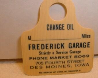 Vintage Celluloid Iowa Service Station and Garage  Automobilia Collectible (E94)
