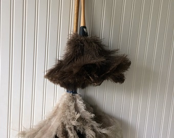 Vintage Feather Duster, Ostrich Feathers, Wall Decor