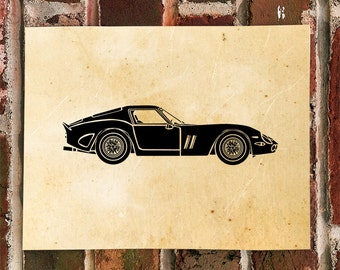 KillerBeeMoto: Limited Print Vintage Italian Engineered Sports Car Automotive Print Print 1 of 50