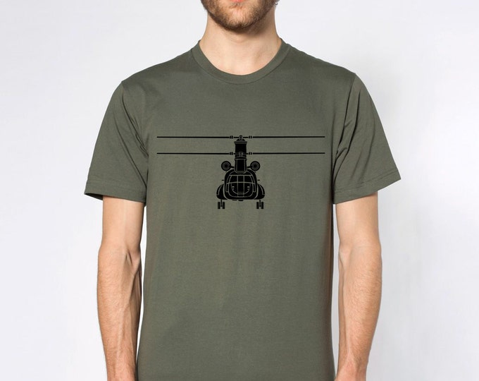 KillerBeeMoto: Boeing CH-47 Chinook Helicopter Short Or Long Sleeve T-Shirt Cartoon Version