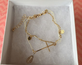 Beautiful silver and gold bracelet