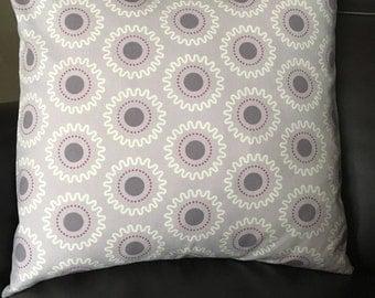 19x19 cushion cover lilac circles