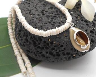 Men's Puka Shell Necklace, Beach Jewelry, Beach Wedding, Shell Jewelry, Shell Necklace, Gift for Man, Beach, Beach