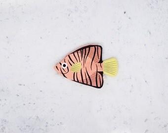 PINK BATFISH (filamentous pink)-purse or Keychain fish