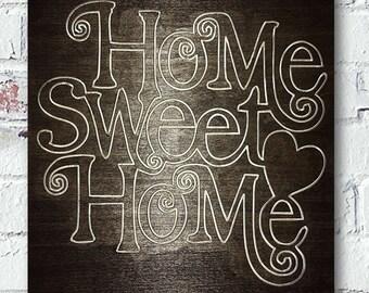Home Sweet Home Handmade Custom Rustic Wood Sign