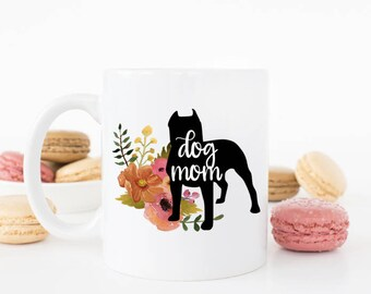 Dog Mom - Pit Bull Mug ***Dishwasher Safe***