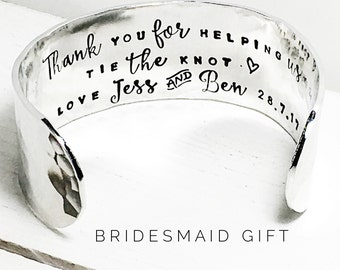 Bridesmaid gift | Bridesmaid gift ideas | Personalized Bridesmaids | Gift ideas for Bridesmaids Thank you for helping us tie the knot (W270)