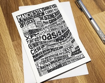 Manchester Greetings Card
