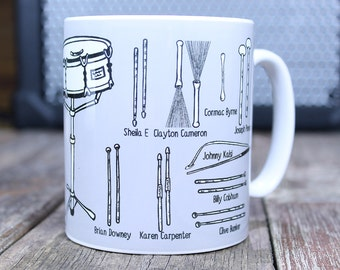 Drummer Mug, Gifts for musicians, father's day