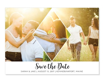Photo Save the Date Card | Printable or Printed | Modern Save the Date | Engagement | Contemporary / Geometric Save-the-Date | 5x7 | #723